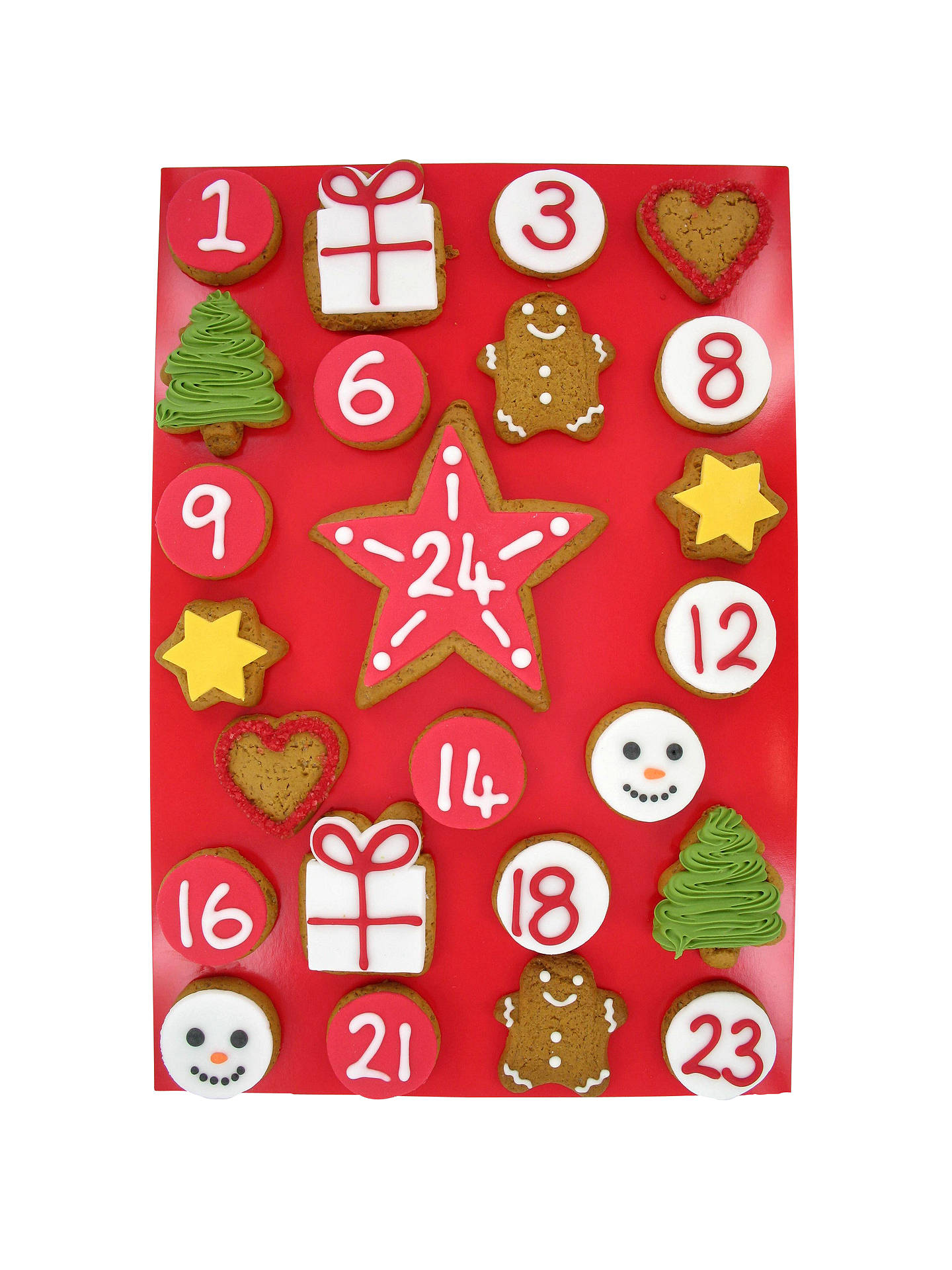 BuyImage on Food Iced Gingerbread Advent Calendar, 325g Online at johnlewis.com