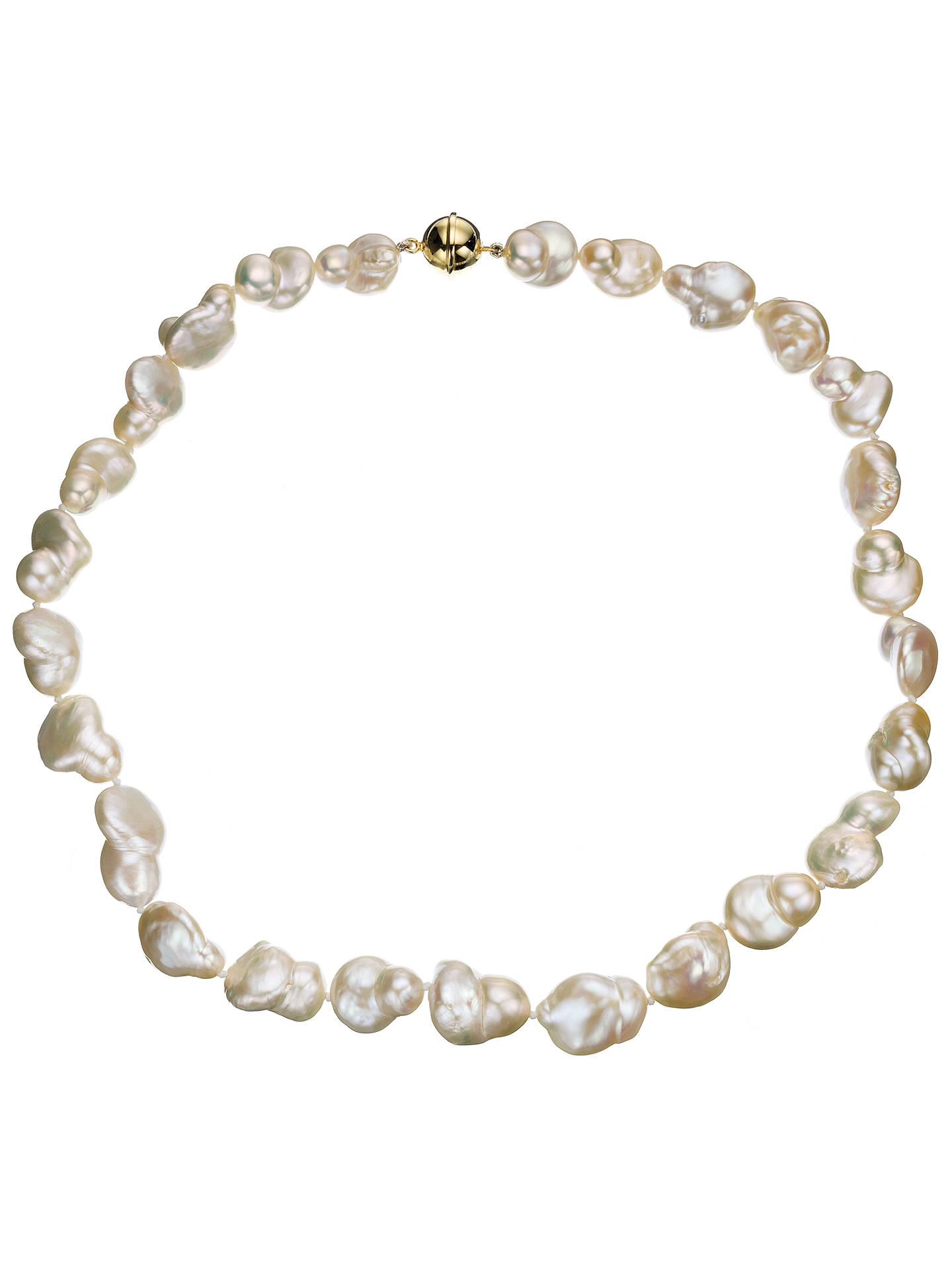 0a5e42dbcdfac A B Davis Cultured River Baroque Pearl Necklace, White