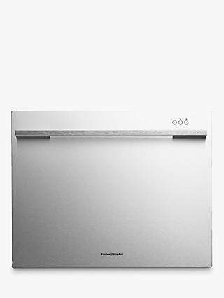 Fisher & Paykel DD60SDFHTX7 Designer Built-in Single DishDrawer Dishwasher, Stainless Steel