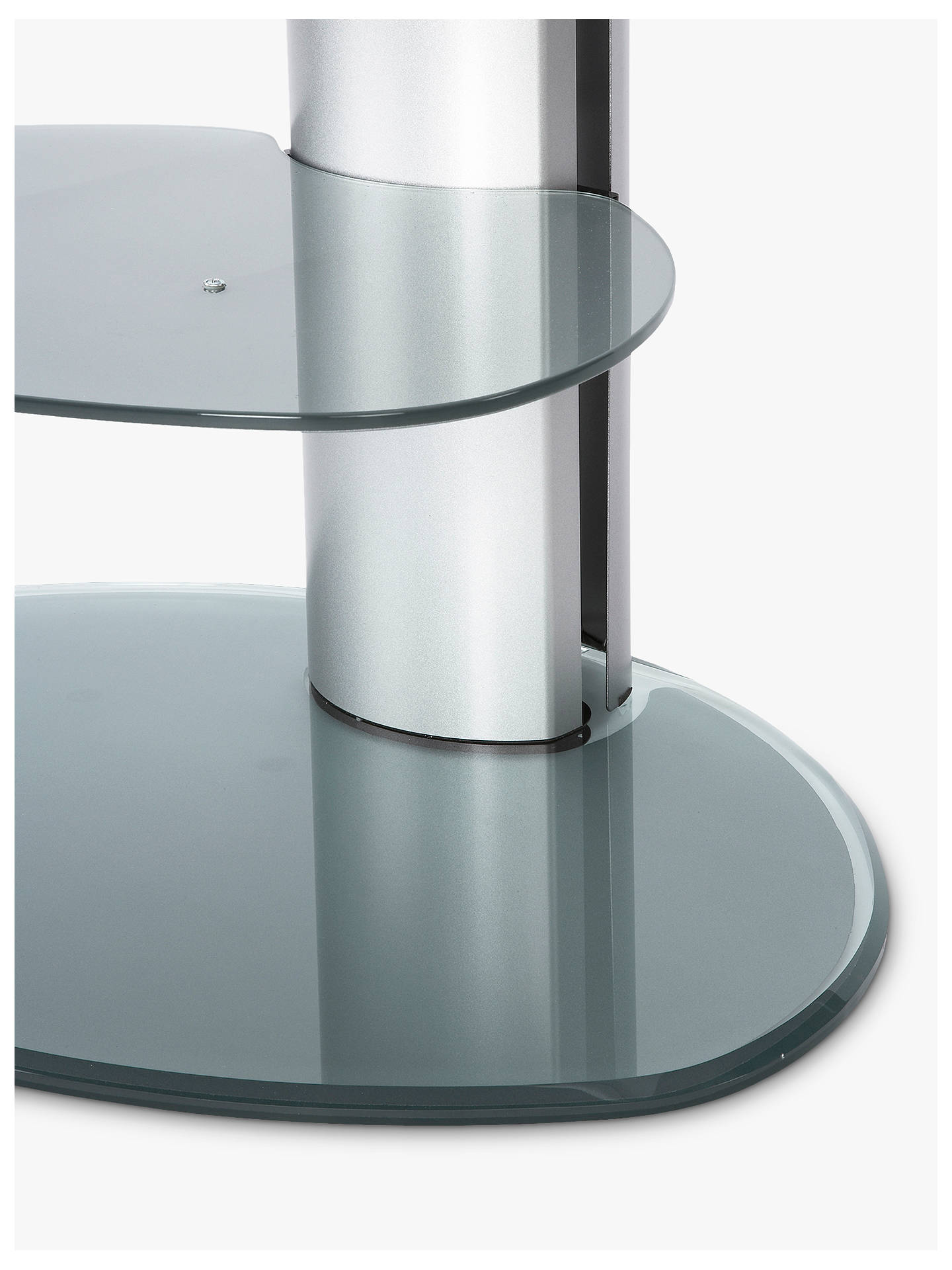 "BuyOff The Wall Motion TV & Soundbar Stand for TVs up to 55"", Silver Online at johnlewis.com"