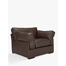 Buy John Lewis Java Semi Aniline Leather Armchair, Nature Brown Online at johnlewis.com