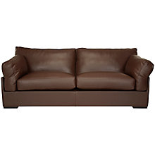 Buy John Lewis Java Leather Grand 4 Seater Sofa, Nature Brown Online at johnlewis.com