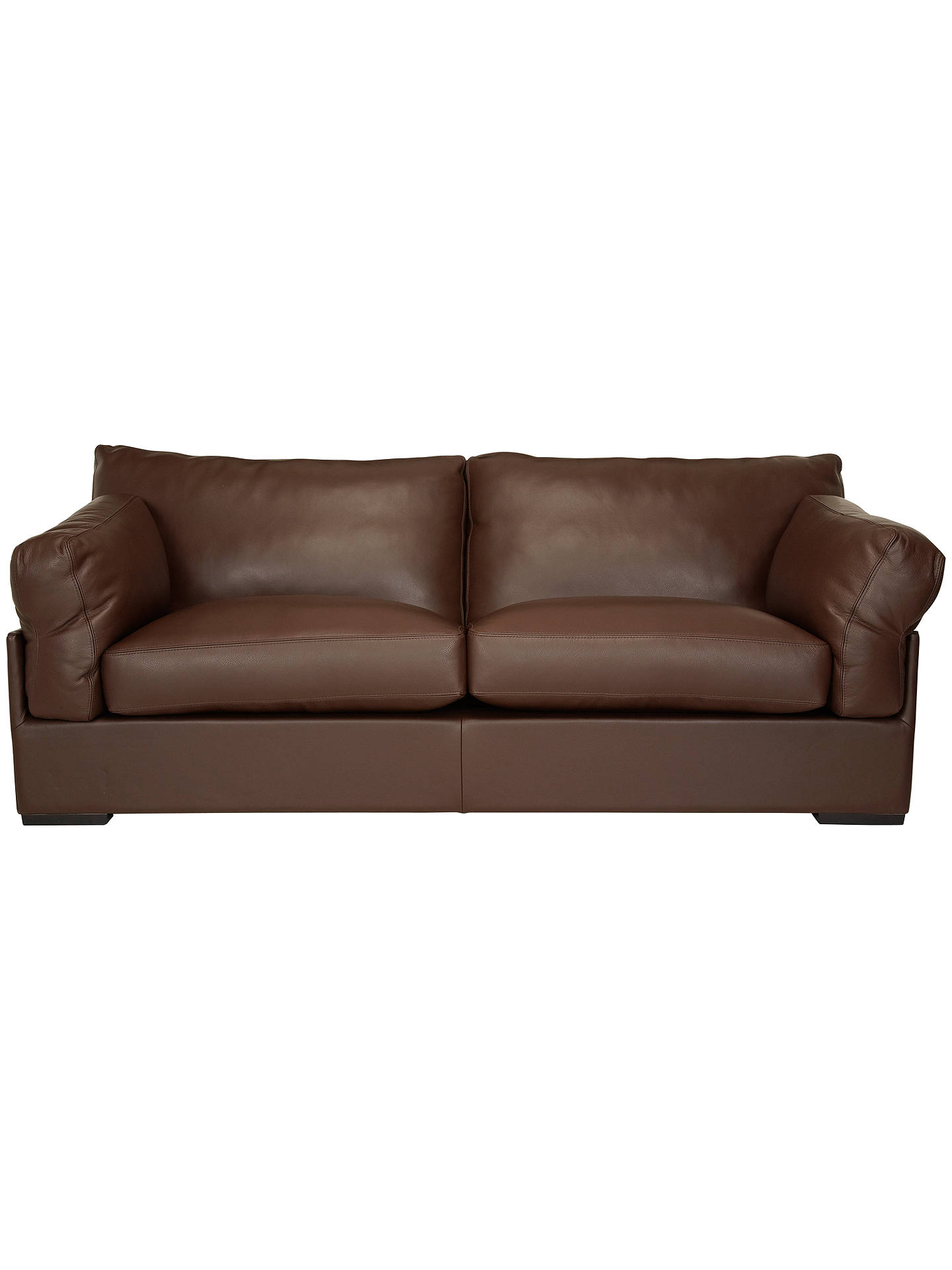 John Lewis Partners Java Leather Grand 4 Seater Sofa Nature Brown Online At Johnlewis