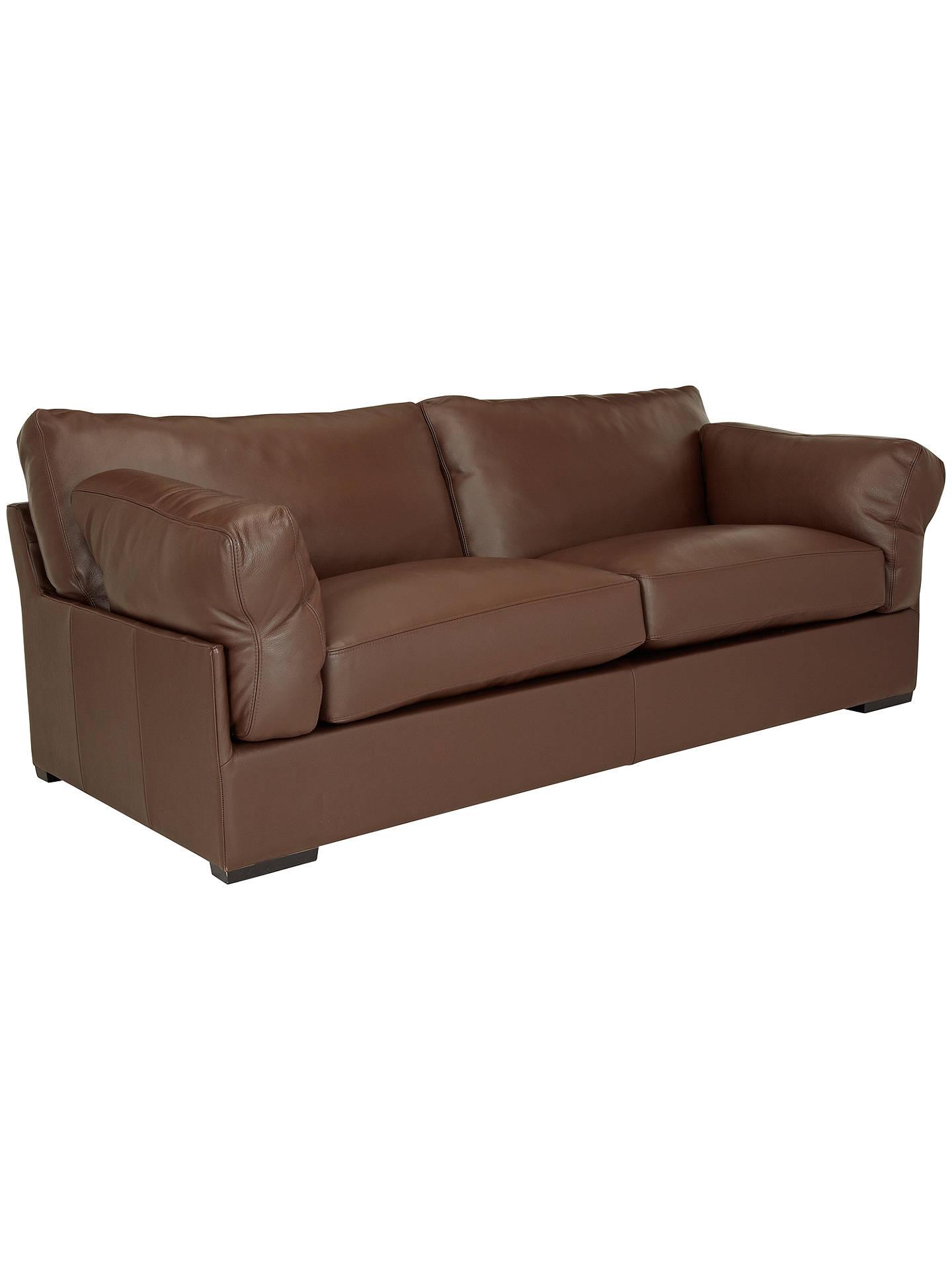 Awe Inspiring John Lewis Partners Java Leather Grand 4 Seater Sofa Cjindustries Chair Design For Home Cjindustriesco
