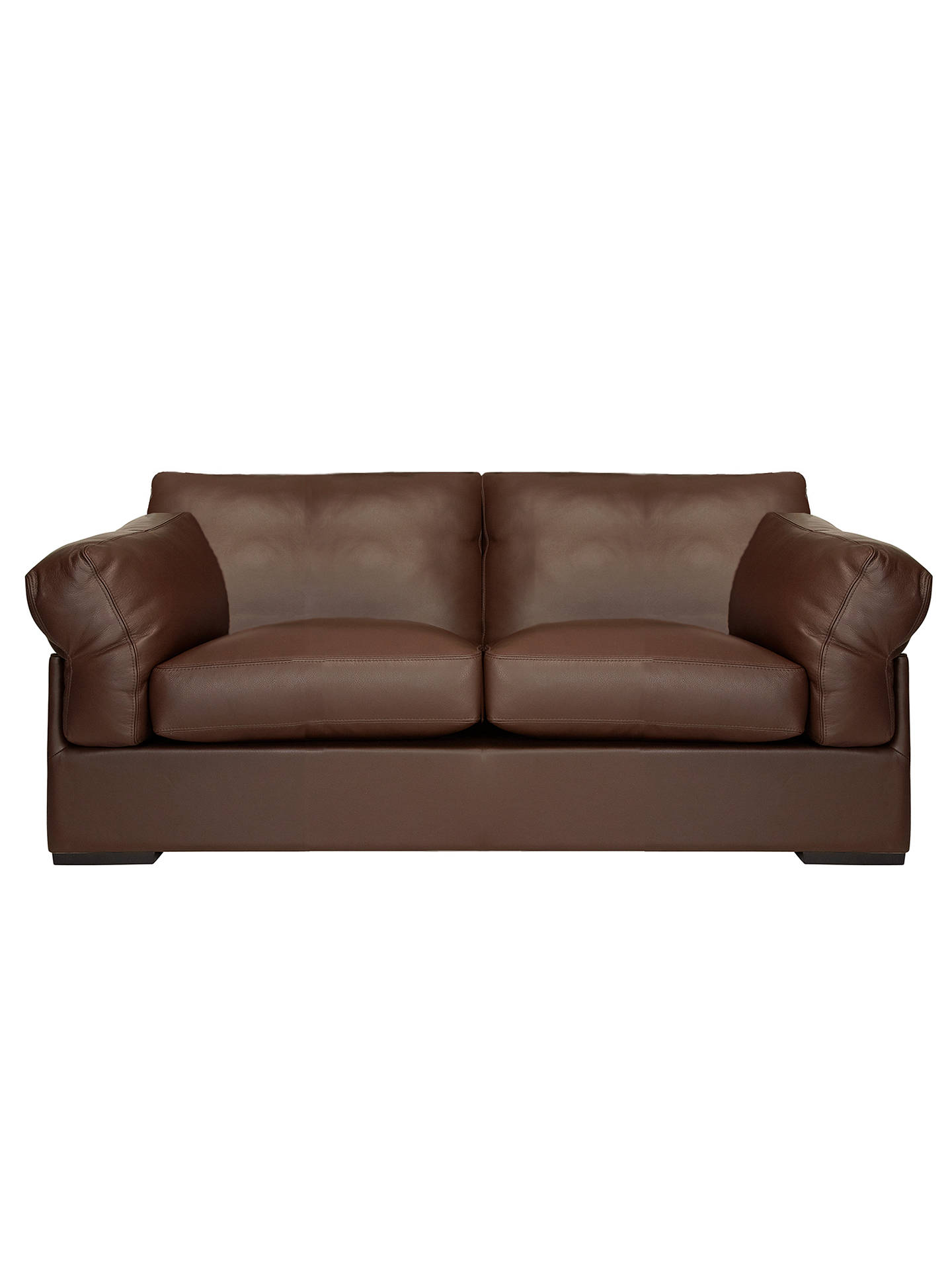 John Lewis Partners Java Medium 2 Seater Leather Sofa Nature Brown Online At Johnlewis
