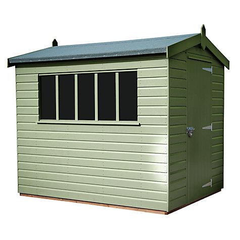 Garden Sheds John Lewis buy crane 1.8 x 2.4m kensington garden shed, fsc-certified