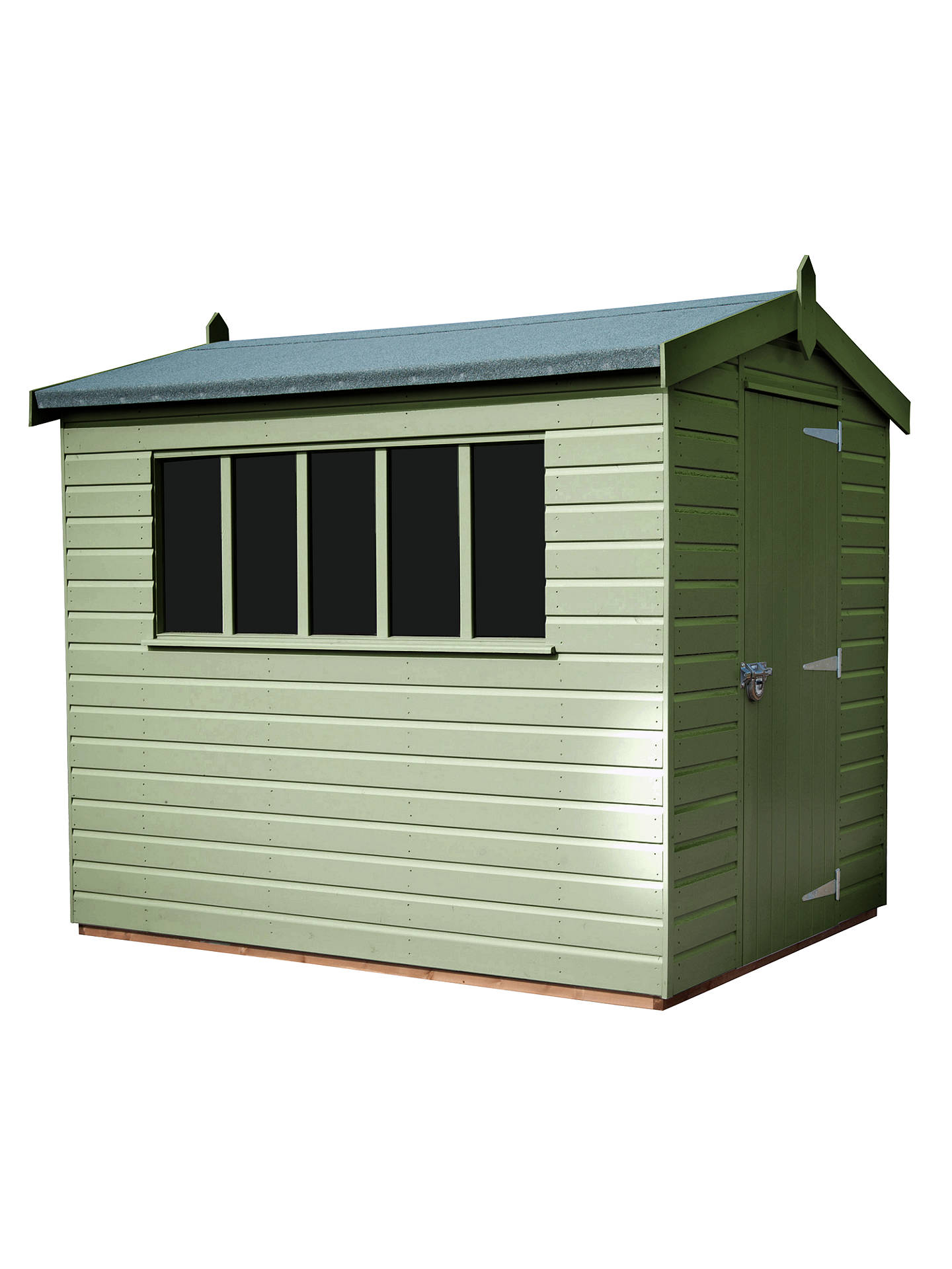 Buy Crane 1.8 x 2.4m Kensington Garden Shed, FSC-certified (Scandinavian Redwood), Sage Online at johnlewis.com