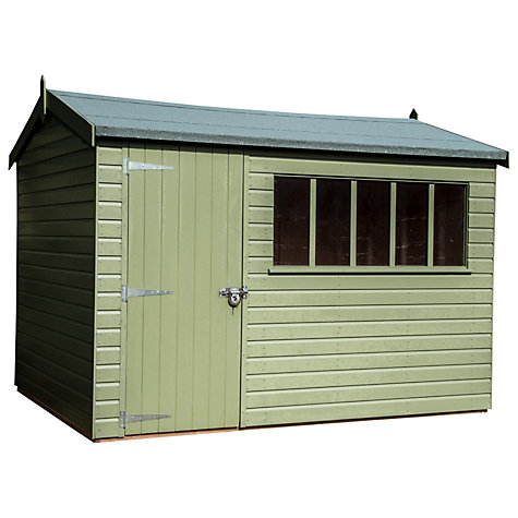 Buy Crane 2.4 x 3m Balmoral Garden Shed, FSC-certified (Scandinavian Redwood) Online at johnlewis.com