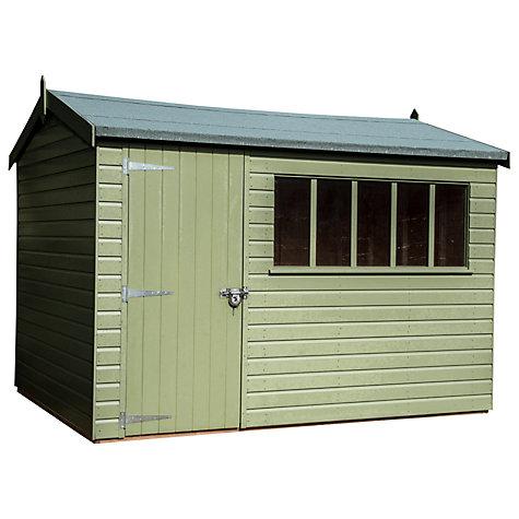 Garden Sheds John Lewis buy crane 2.4 x 3m balmoral garden shed, fsc-certified