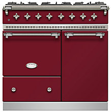 Buy Lacanche Beaune LG962GCTDRBCHA Dual Fuel Range Cooker, Burgundy Red / Chrome Trim Online at johnlewis.com