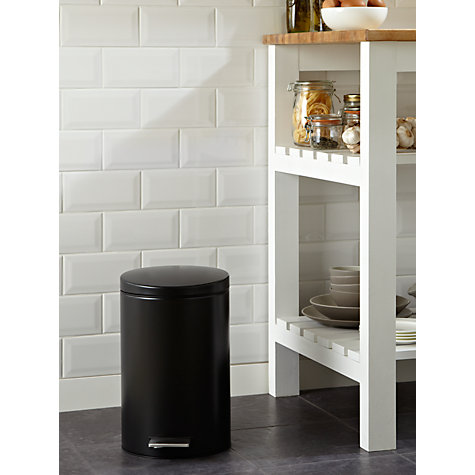 Buy Brabantia Pedal Bin, Matt Black, 12L Online at johnlewis.com