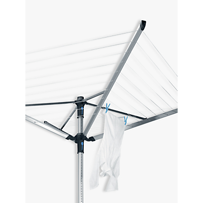 Product photo of Brabantia liftomatic advance rotary clothes airer washing line with ground tube cover and peg bag