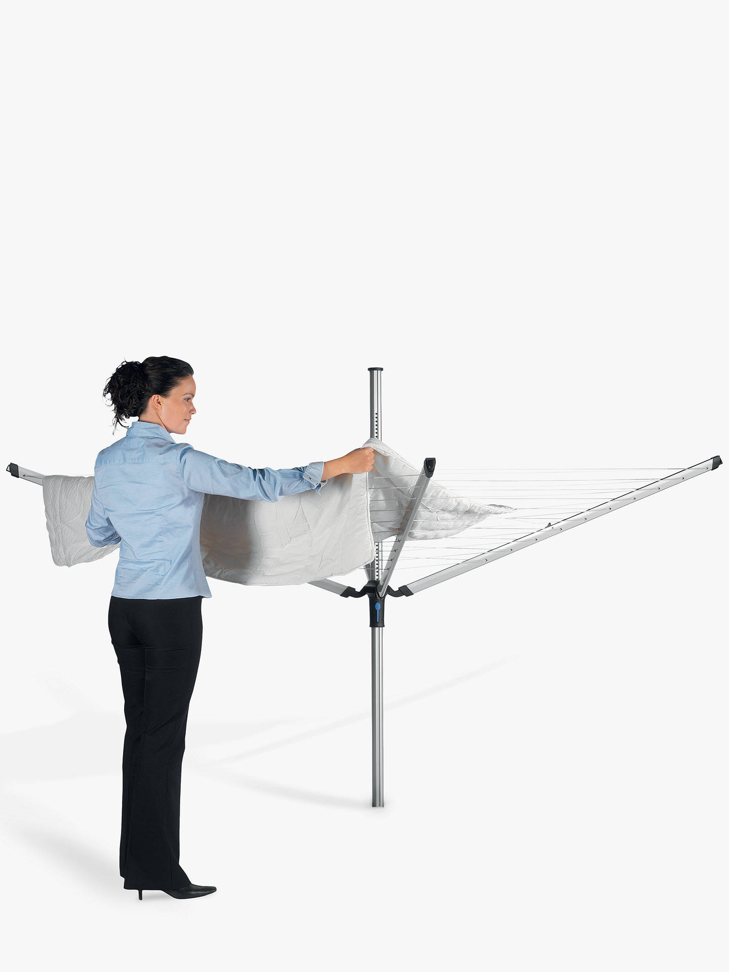 Buy Brabantia Lift-O-Matic Advance Rotary Clothes Outdoor Airer Washing Line with Ground Tube, Cover and Peg Bag, 50m Online at johnlewis.com