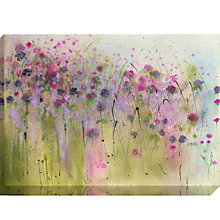 Buy Sue Fenlon - Wild Violets In The Hedgerow Print on Canvas, 70 x 100cm Online at johnlewis.com