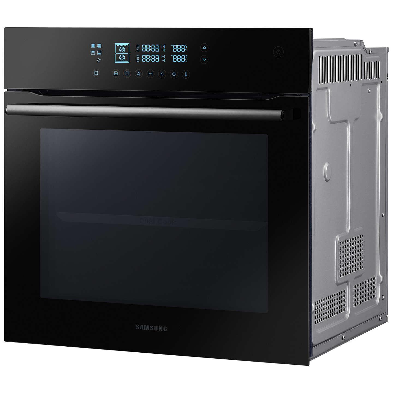 samsung bq2q7g078 dual cook electric single oven black glass at john lewis. Black Bedroom Furniture Sets. Home Design Ideas