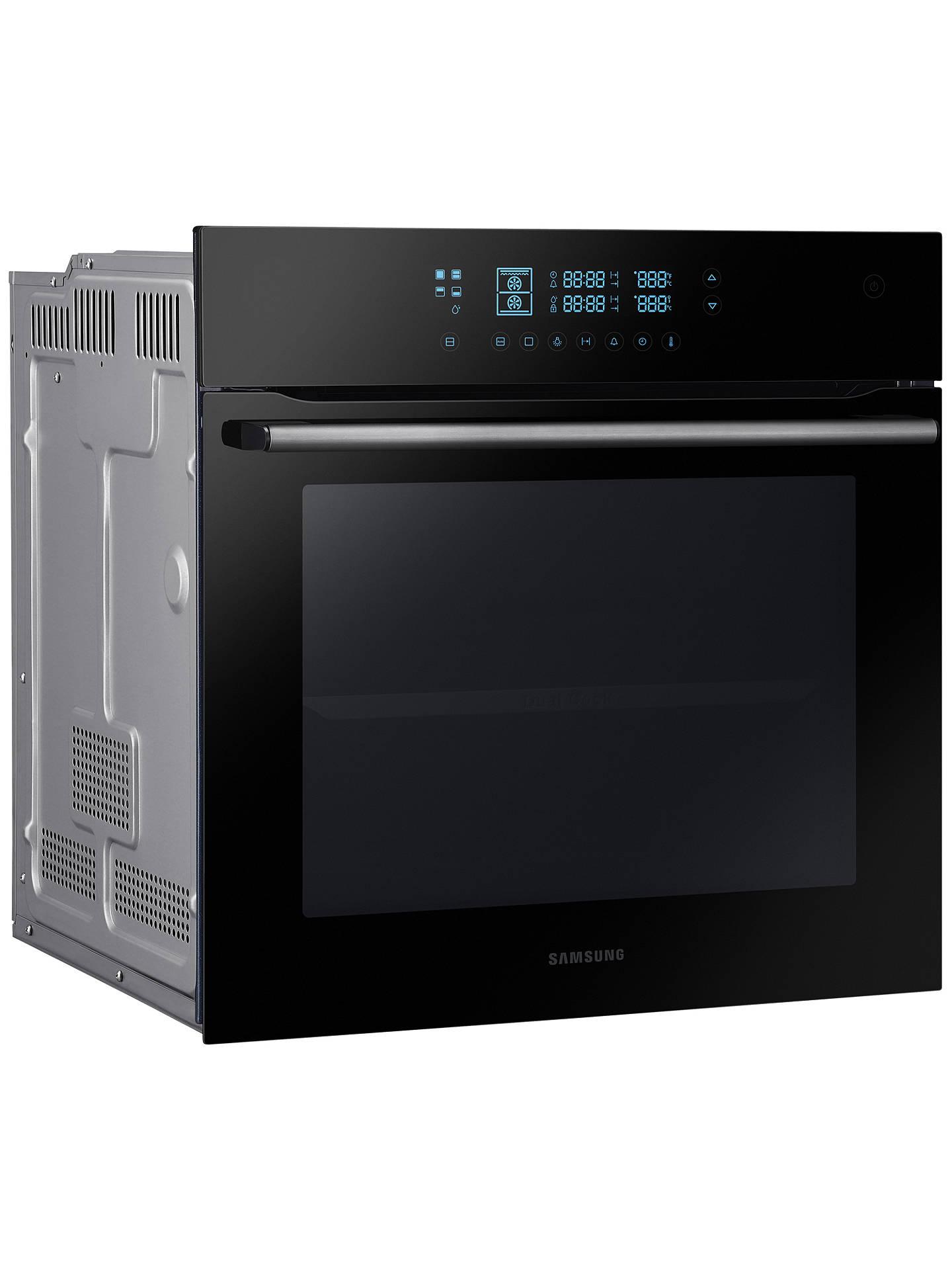 samsung bq2q7g078 dual cook electric single oven black. Black Bedroom Furniture Sets. Home Design Ideas
