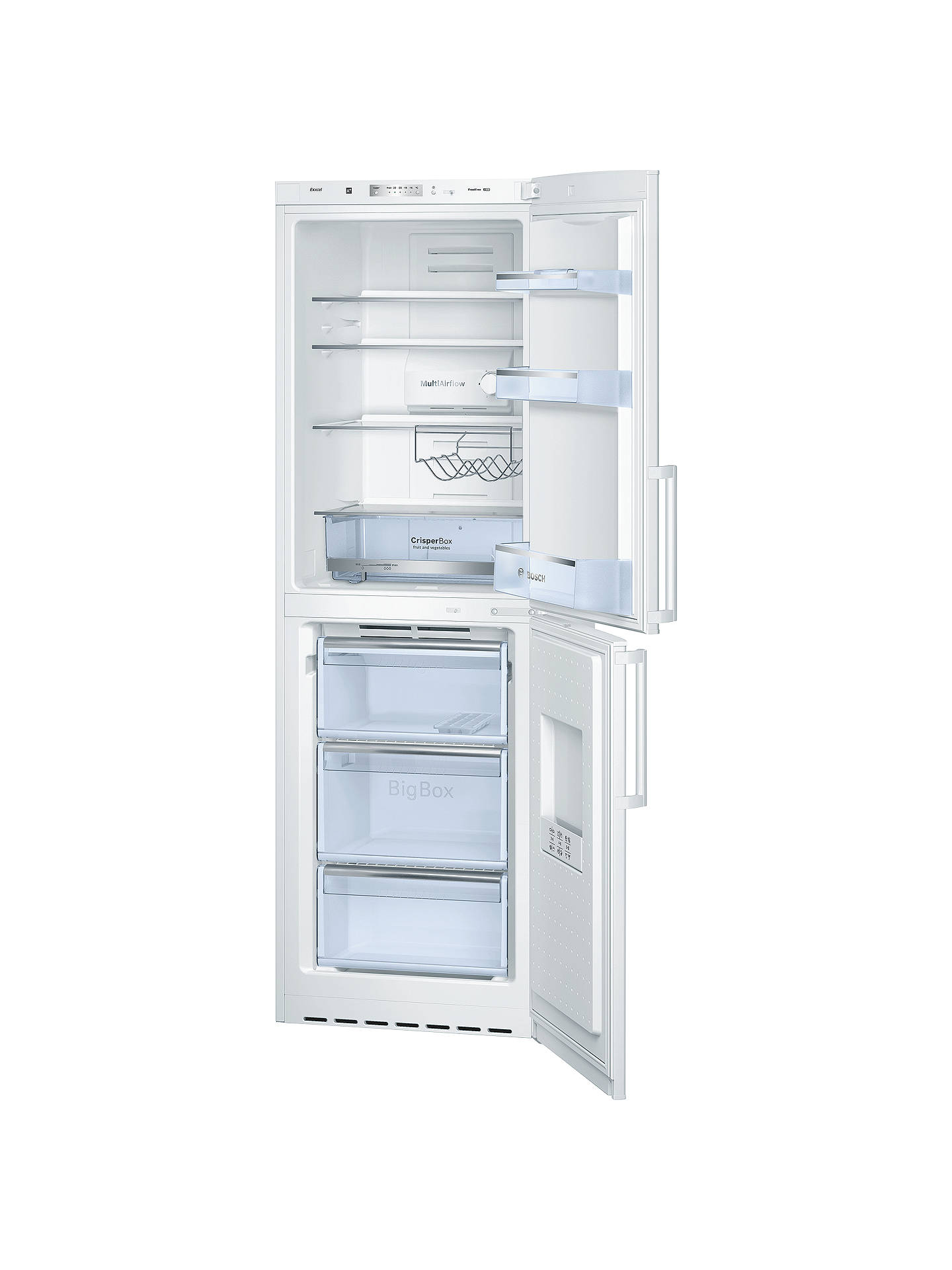 ... BuyBosch KGN34VW20G No Frost Fridge Freezer, A+ Energy Rating, 60cm  Wide, White Online