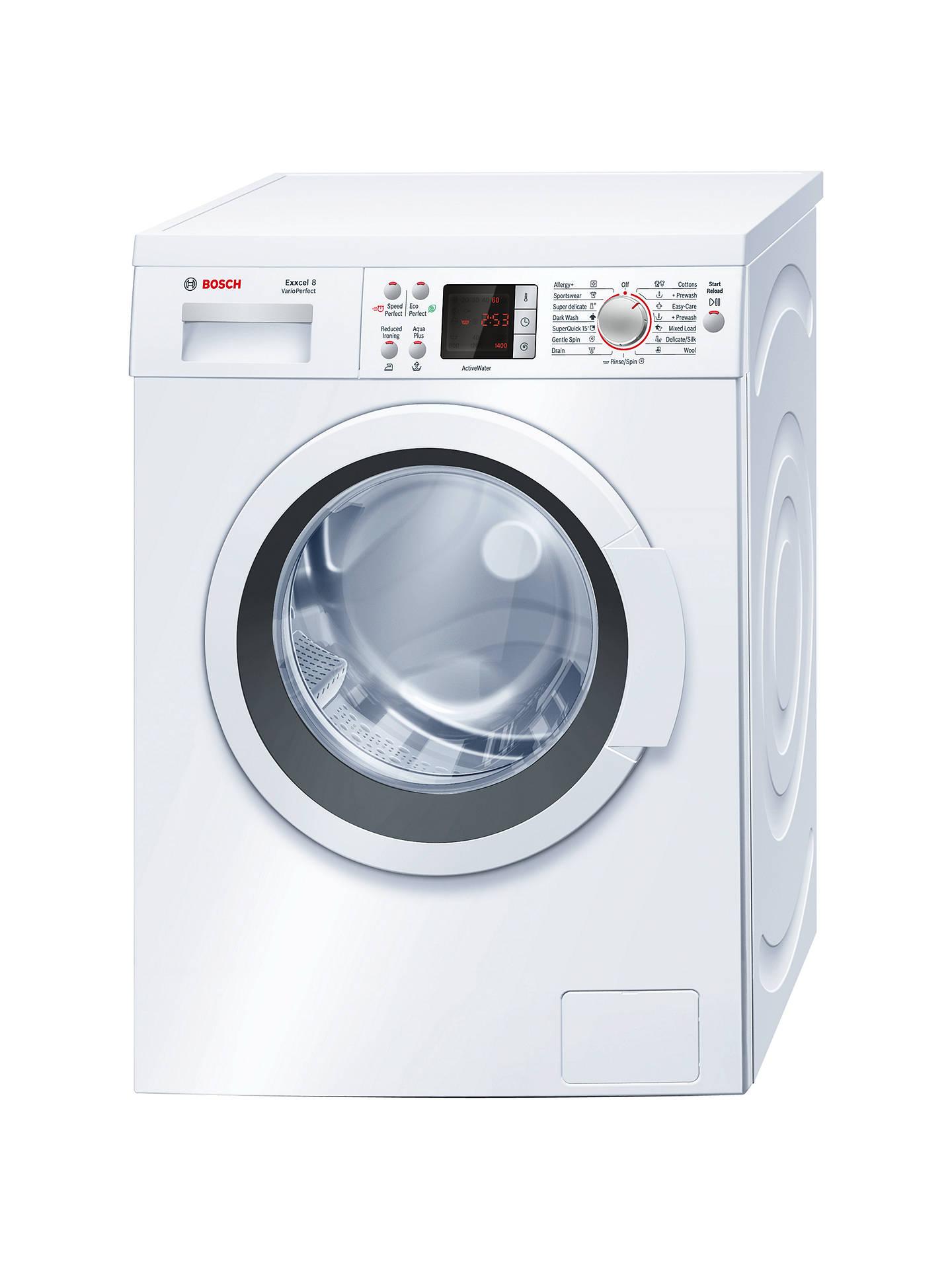Bosch Ecel Waq28461gb Freestanding Washing Machine 8kg Load A Energy Rating 1400rpm Spin