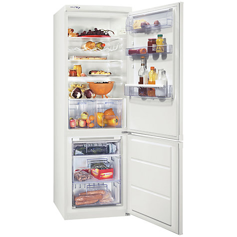 Buy Zanussi ZRB934FW2 Fridge Freezer, White Online at johnlewis.com