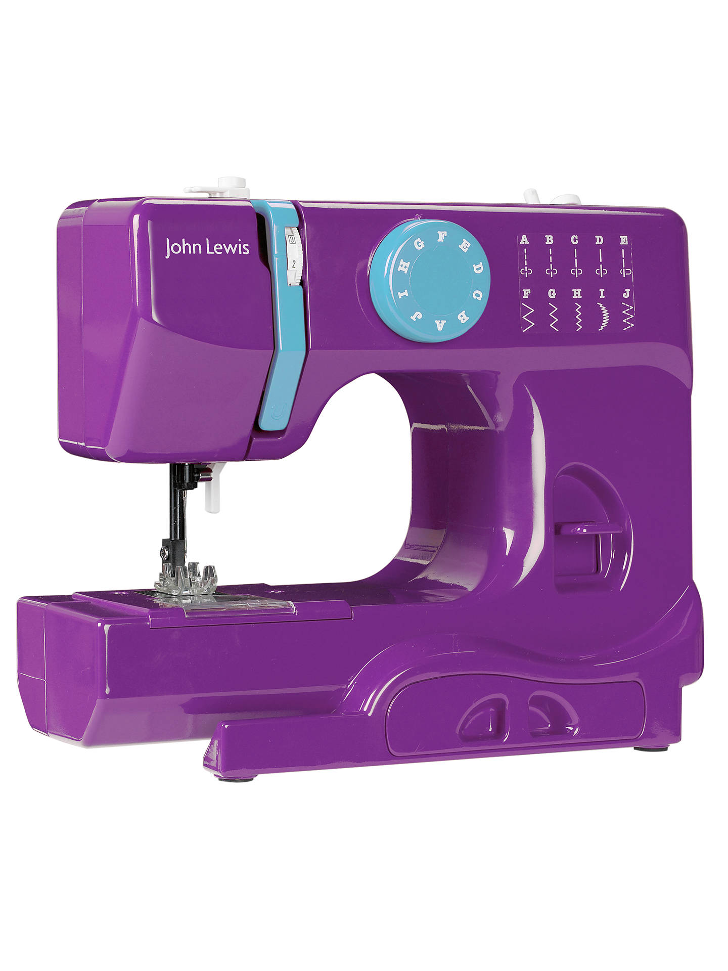 Buy John Lewis Mini Colour Block Sewing Machine, Purple Online at johnlewis.com