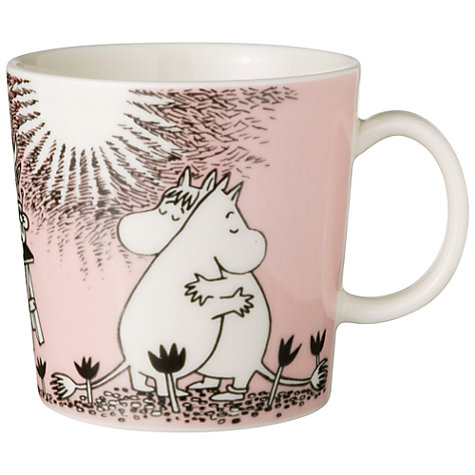 Buy Finland Arabia Moomin Mug, Pink Love Online at johnlewis.com