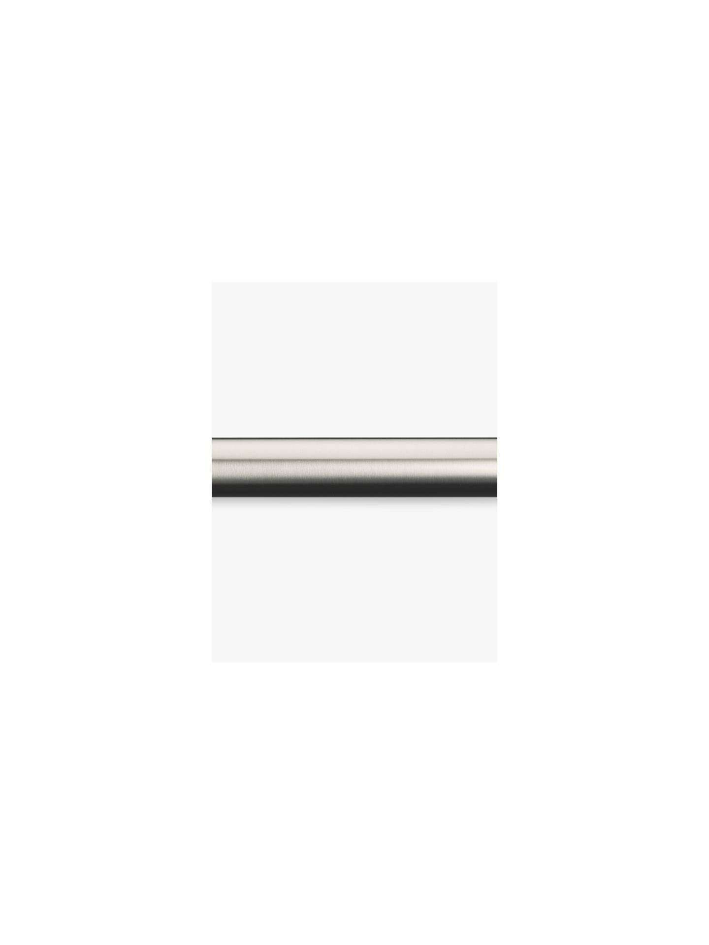 John Lewis & Partners Stainless Steel Curtain Pole, L120cm x Dia ...