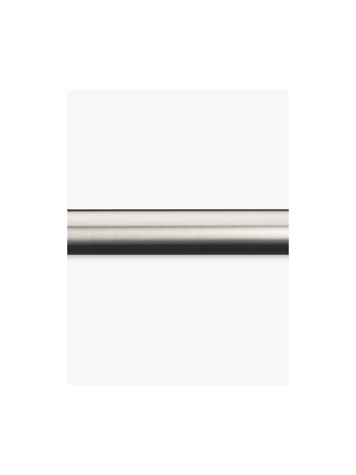 BuyJohn Lewis Stainless Steel Curtain Pole Kit, L300cm x Dia.25mm Online at johnlewis.com