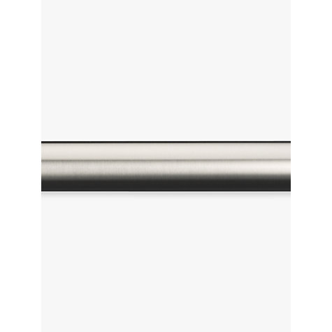 Buy John Lewis Stainless Steel Curtain Pole, L180cm x Dia.25mm ...