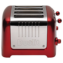 Buy Dualit Lite 4-Slice Toaster with Warming Rack, Metallic Red + FREE Sandwich Cage Online at johnlewis.com
