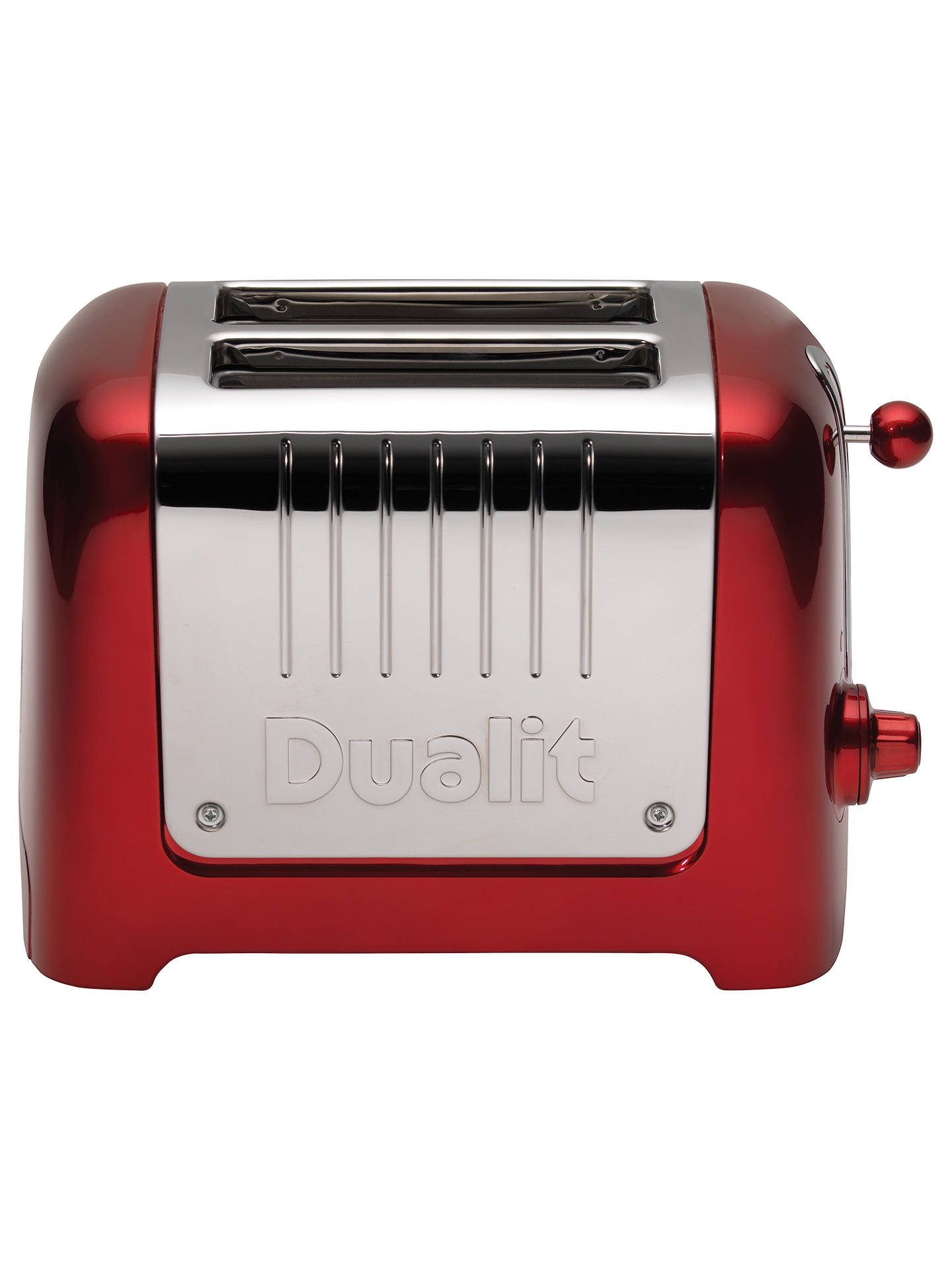 BuyDualit Lite 2-Slice Toaster with Warming Rack, Metallic Red Online at johnlewis.com