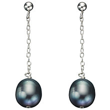 Buy A B Davis Freshwater Pearl Sterling Silver Chain Drop Earrings Online at johnlewis.com