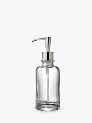 John Lewis & Partners Glass Lotion/Soap Dispenser, Clear