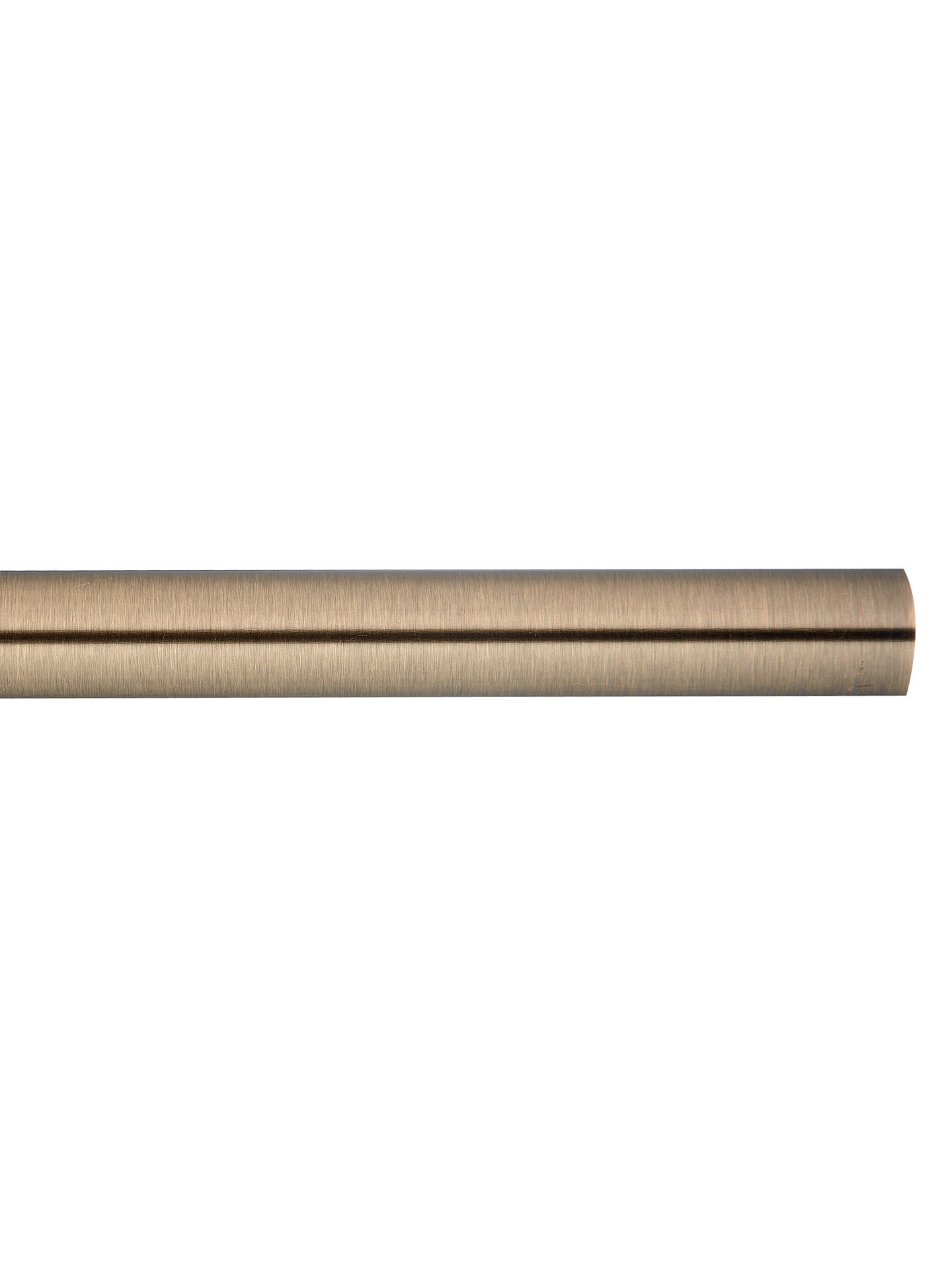 Buy John Lewis & Partners Antique Brass Curtain Pole, L180cm x Dia.28mm Online at johnlewis.com