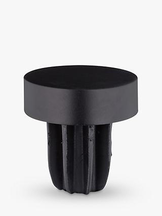 John Lewis & Partners Satin Black Stud Finial, Dia.28mm