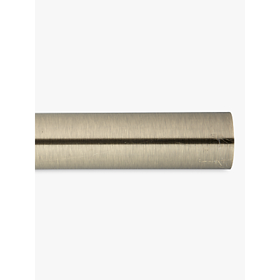 John Lewis Antique Brass Curtain Pole L120cm x Dia.28mm