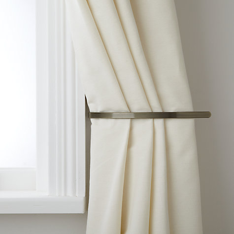 Buy John Lewis Curtain Holdbacks, Antique Brass | John Lewis