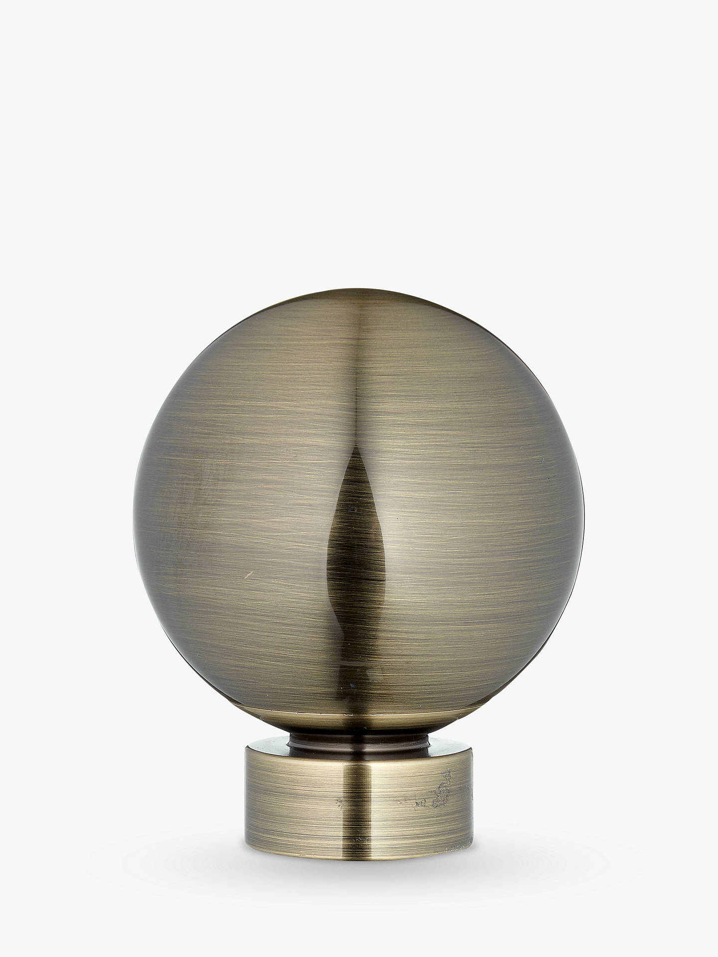 BuyJohn Lewis & Partners Antique Brass Ball Finial, Dia.28mm Online at johnlewis.com