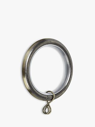 John Lewis & Partners Extendable Curtain Rings, Pack of 6, Dia.25/28mm