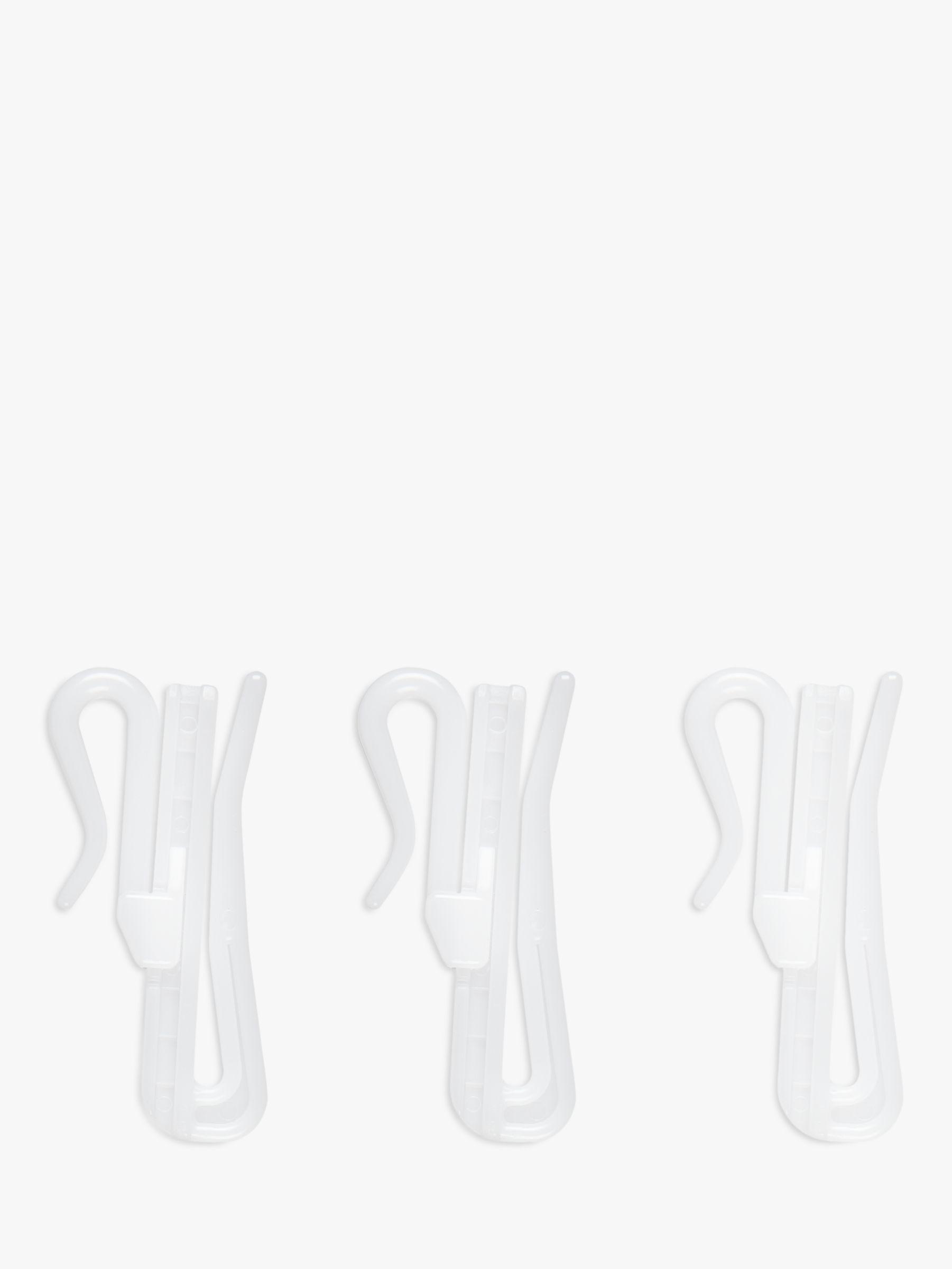 John Lewis Partners Adjustable Curtain Hooks Pack Of 20 Dia 50mm