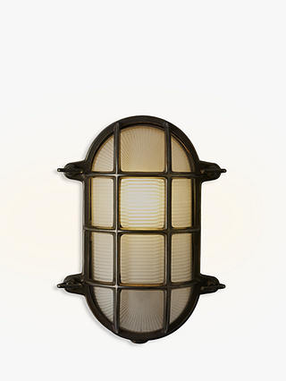 Buy Davey Lighting Bulkhead Weathered Wall Light, Brass Online at johnlewis.com