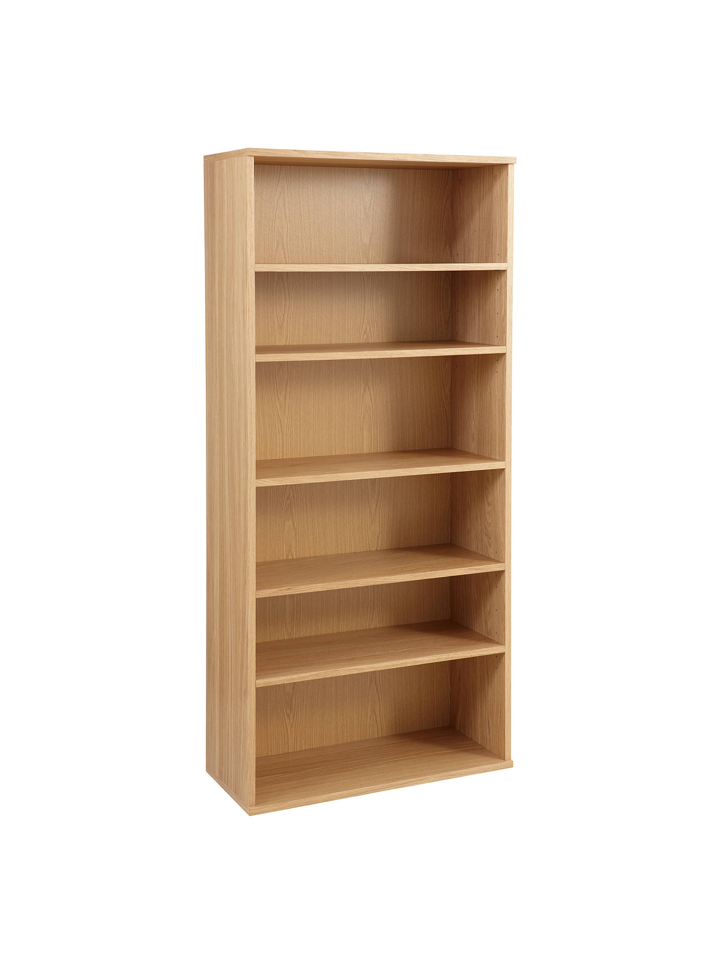 BuyJohn Lewis Partners Abacus 5 Shelf Bookcase FSC Certified Oak Online At