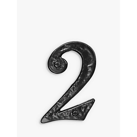 Buy John Lewis Wrought Iron Door 2 Numeral, Black Online at johnlewis.com