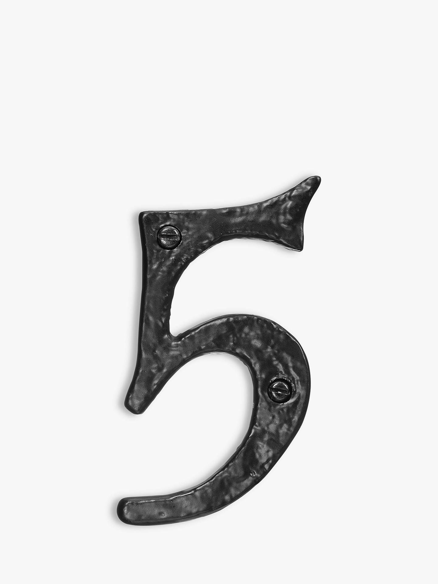 BuyJohn Lewis & Partners Wrought Iron Door 5 Numeral, Black Online at johnlewis.com
