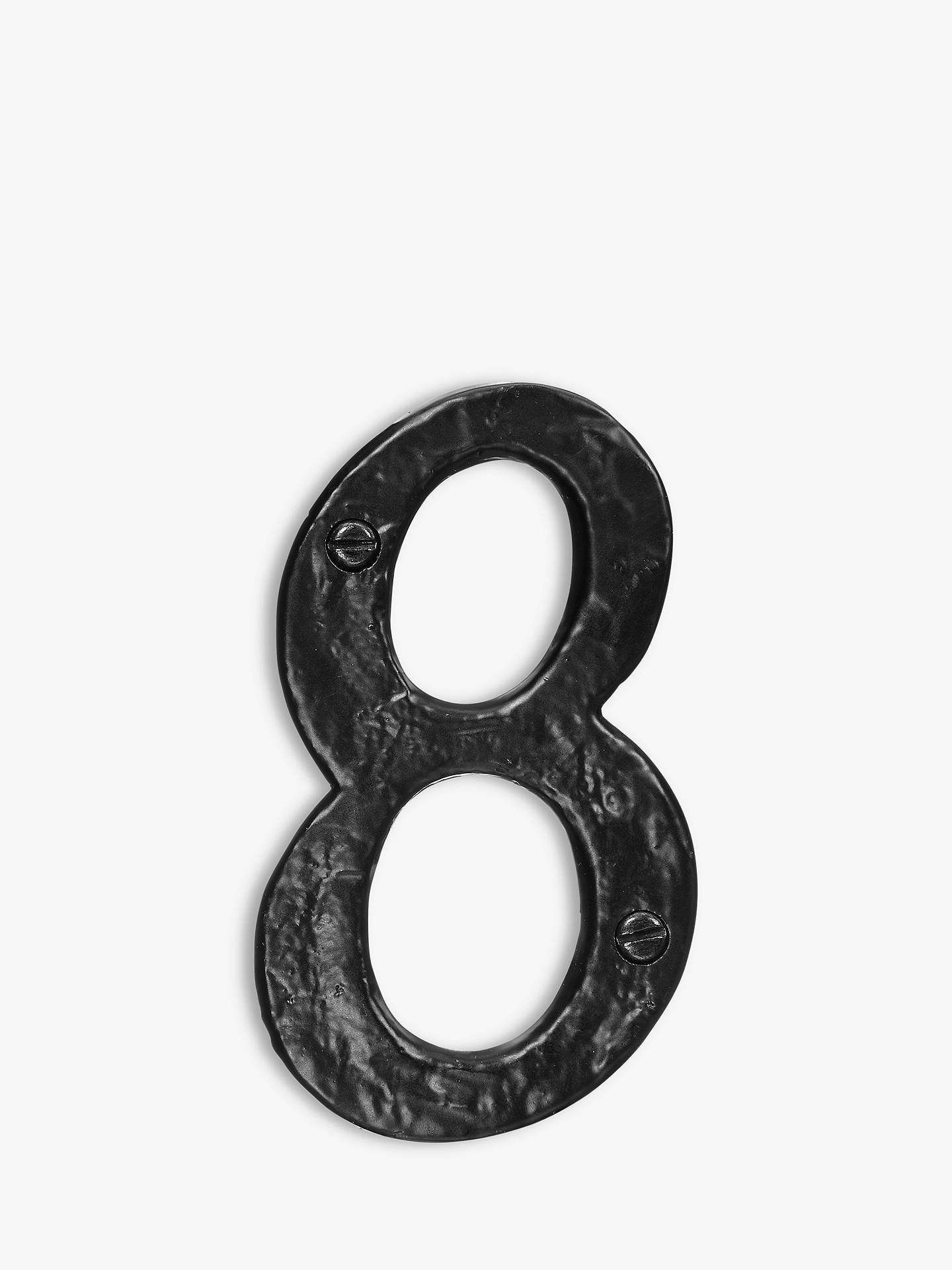 BuyJohn Lewis & Partners Wrought Iron Door 8 Numeral, Black Online at johnlewis.com