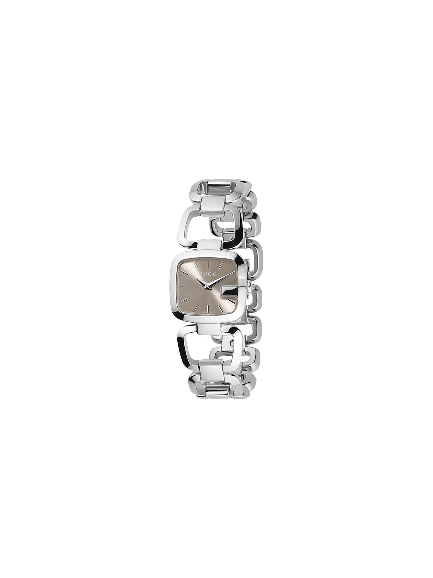 5f401ab7b40 Buy Gucci YA125507 Women s G-Gucci Brown Square Dial Bracelet Strap Watch