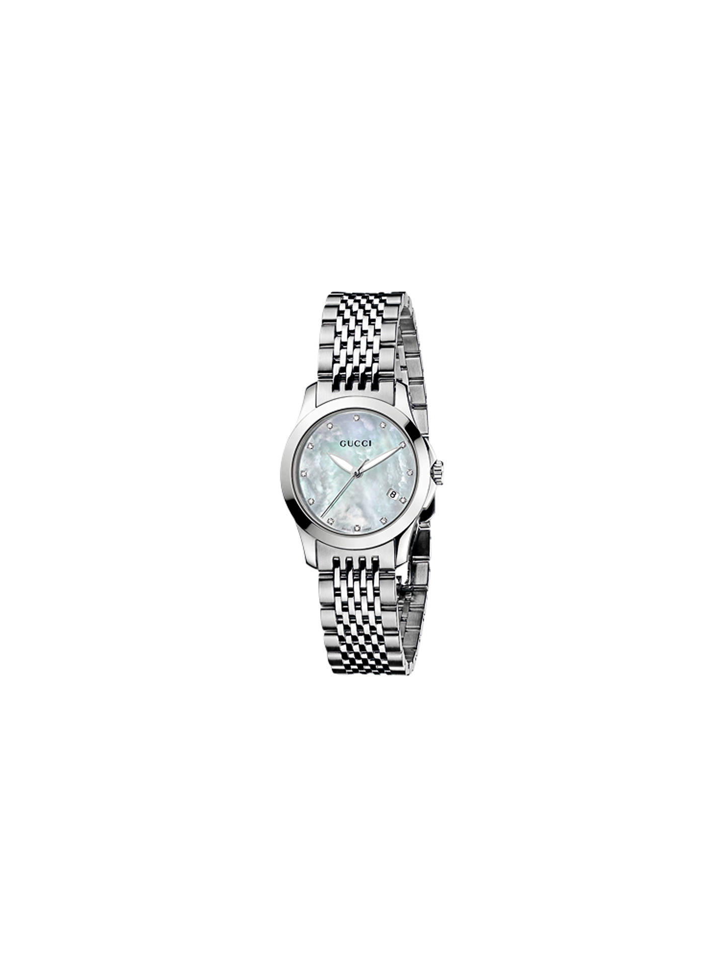 3f889f8a2e3 Gucci Women s G-Timeless Mother of Pearl Dial Stainless Steel Bracelet  Strap Watch