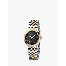 Buy Gucci YA126512 Women's G-Timeless Two Tone Date Bracelet Strap Watch, Silver/Rose Gold Online at johnlewis.com