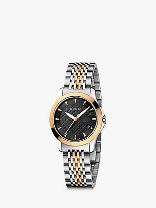 779c60ecbdc Gucci YA126512 Women s G-Timeless Two Tone Date Bracelet Strap Watch