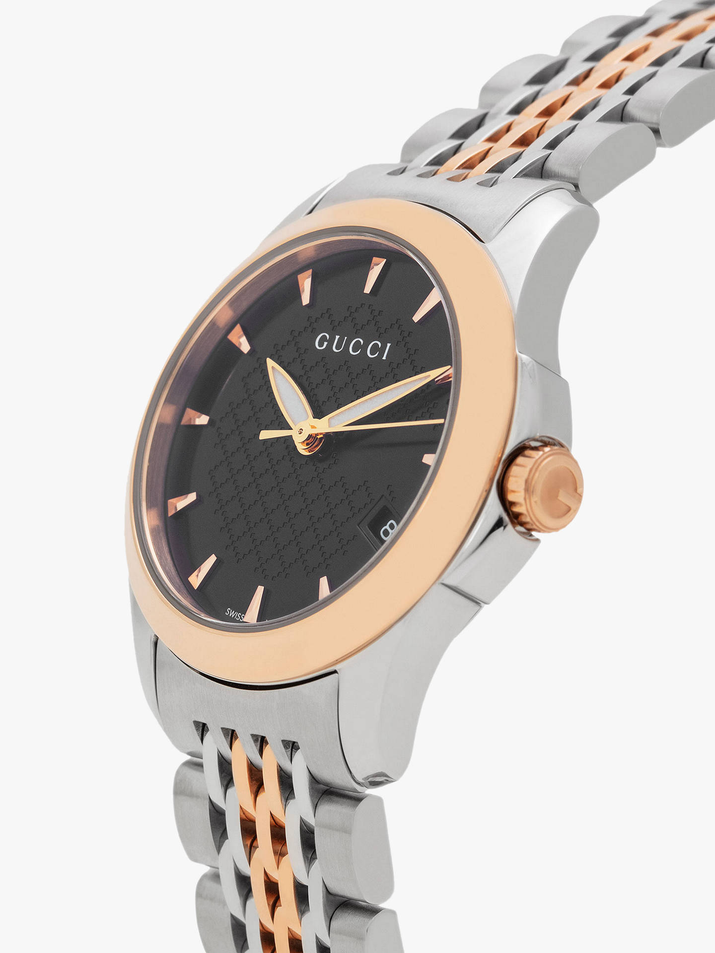 27fa5a8da1c ... Buy Gucci YA126512 Women s G-Timeless Two Tone Date Bracelet Strap Watch