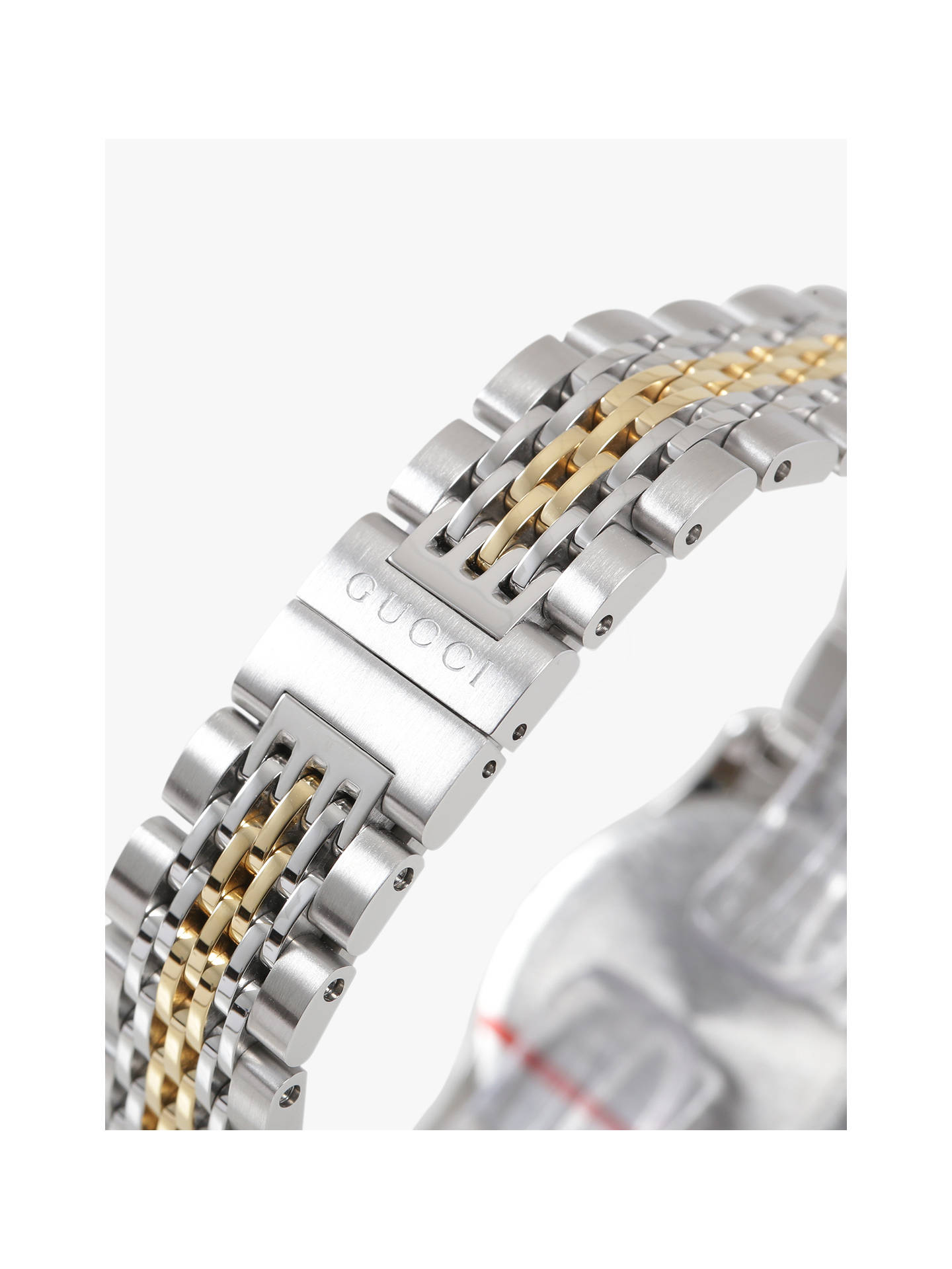 edf3fe79d06 ... Buy Gucci YA126513 Women s G-Timeless Mother of Pearl Diamond Two Tone  Bracelet Strap Watch ...
